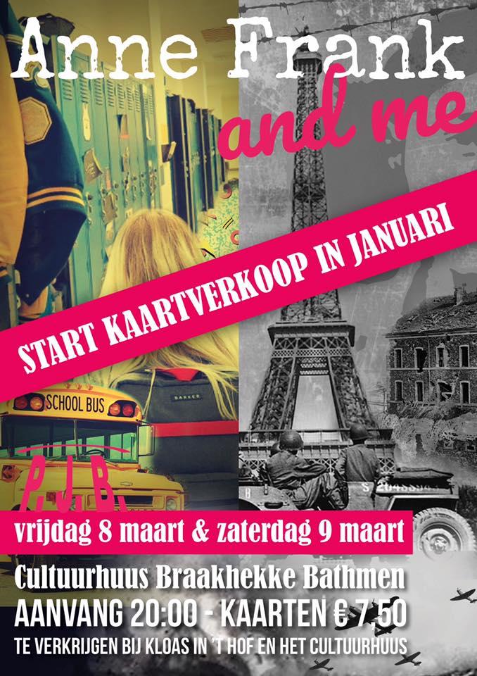 Vrijdag 8 en zaterdag 9 maart: PJB Toneel: Anne Frank