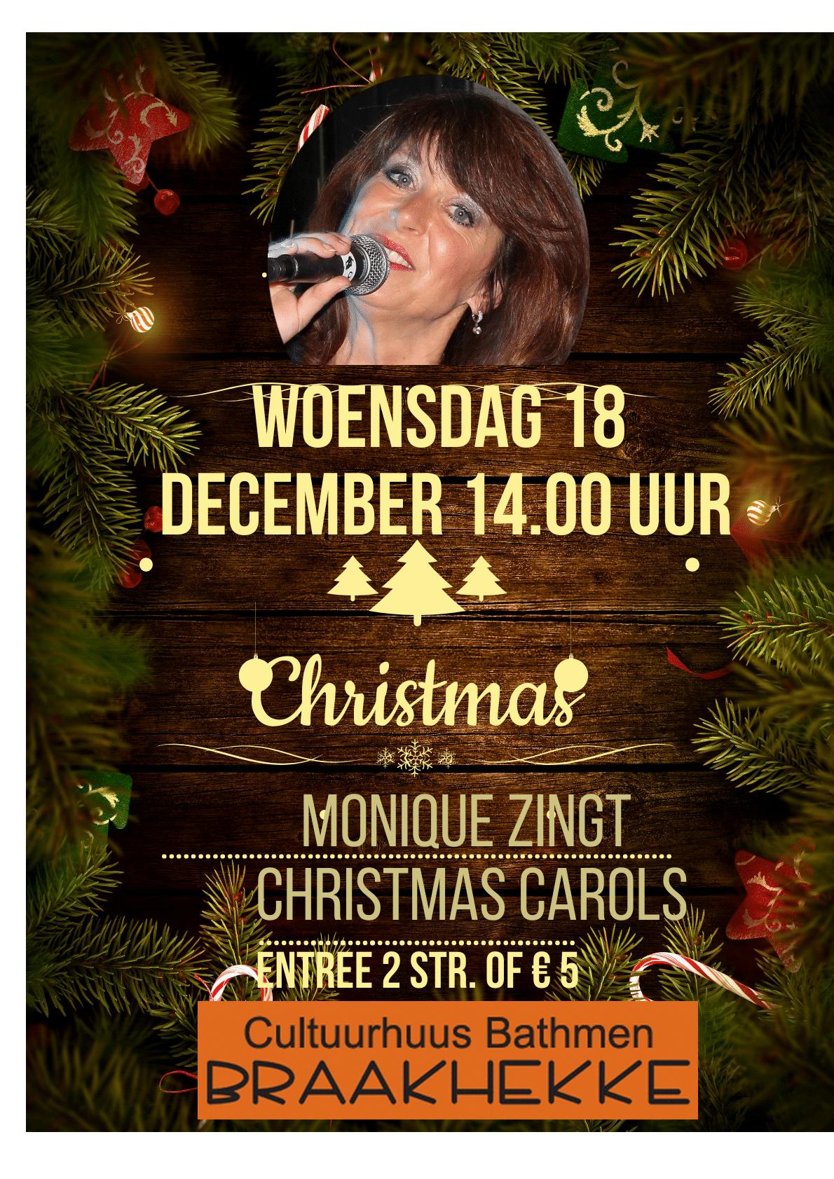 Woensdag 18 december 14.00 uur Kerstprogramma met Monique