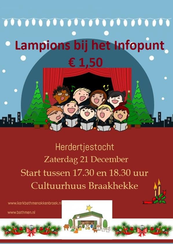 Zaterdag 21 december tussen17.30-18.30 start van de Herdertjestocht