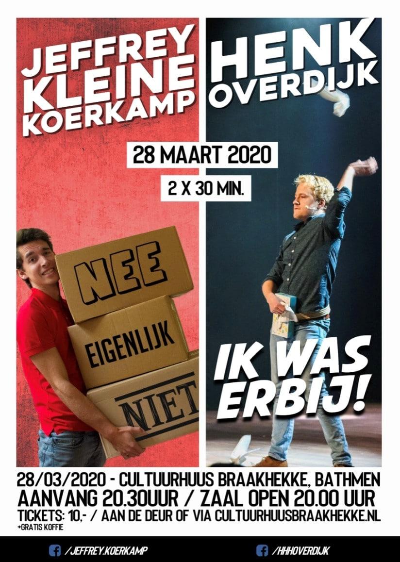 Zaterdag 28 maart 20.30 uur: Jeffrey Kleine Koerkamp & Henk Overdijk